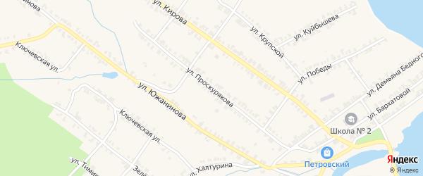 Улица Проскурякова на карте Нязепетровска с номерами домов