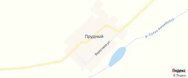 Береговая улица на карте Прудного поселка с номерами домов