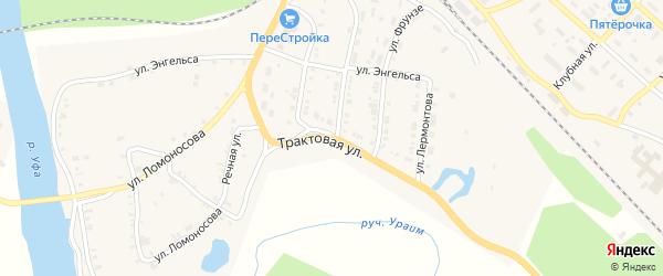 Трактовая улица на карте Нязепетровска с номерами домов