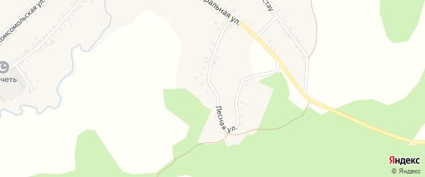 Лесная улица на карте села Сафарово с номерами домов