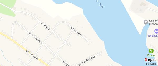 Северная улица на карте Нязепетровска с номерами домов