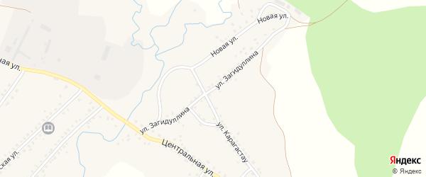Улица Загидуллина на карте села Сафарово с номерами домов