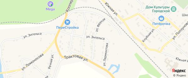 Улица Фрунзе на карте Нязепетровска с номерами домов