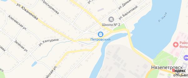 Запрудная улица на карте Нязепетровска с номерами домов