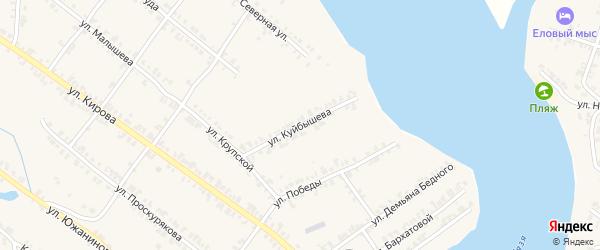 Улица Куйбышева на карте Нязепетровска с номерами домов
