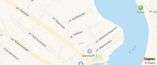 Улица Победы на карте Нязепетровска с номерами домов