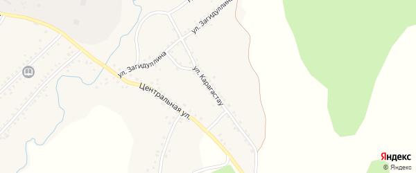 Улица Карагастау на карте села Сафарово с номерами домов