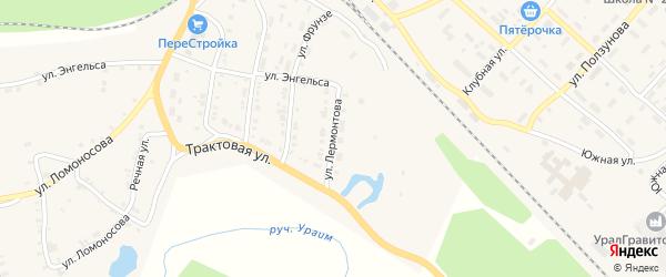 Улица Лермонтова на карте Нязепетровска с номерами домов