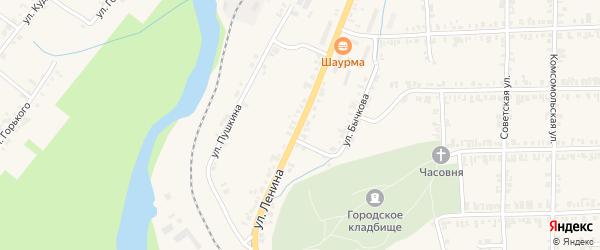 Улица Ленина на карте Нязепетровска с номерами домов