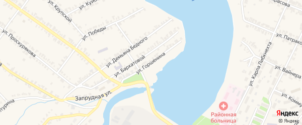Улица Горшенина на карте Нязепетровска с номерами домов