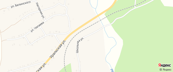 Школьная улица на карте Нязепетровска с номерами домов
