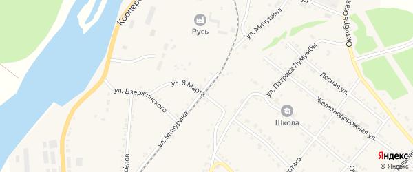 Улица Мичурина на карте Нязепетровска с номерами домов