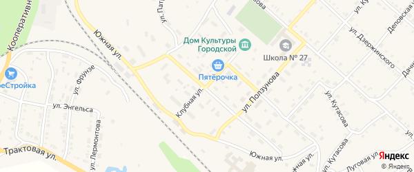 Клубная улица на карте Нязепетровска с номерами домов