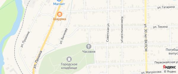 Школьный переулок на карте Нязепетровска с номерами домов