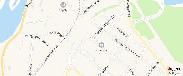 Улица Патриса Лумумбы на карте Нязепетровска с номерами домов