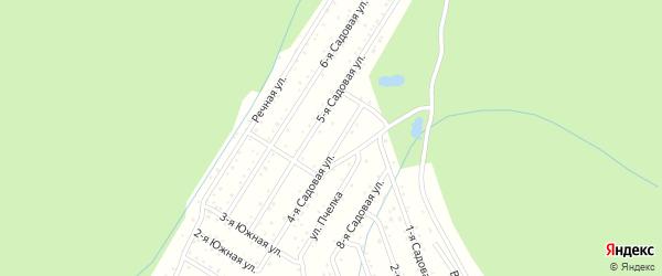 СНТ Металлург на карте Златоуста с номерами домов