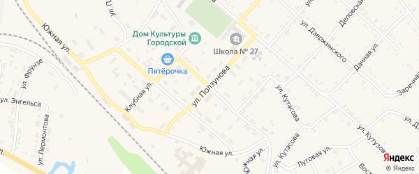 Улица Ползунова на карте Нязепетровска с номерами домов