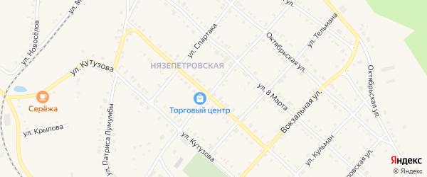 Улица Чернышевского на карте Нязепетровска с номерами домов