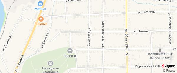 Советская улица на карте Нязепетровска с номерами домов