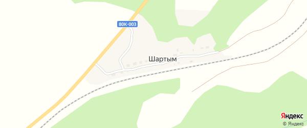 Железнодорожная улица на карте деревни Устиново с номерами домов