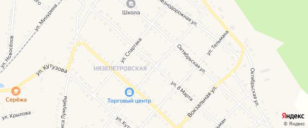 Улица 8 Марта на карте Нязепетровска с номерами домов