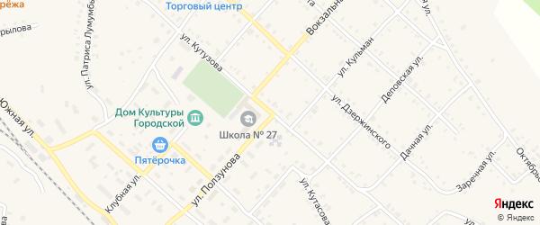 Улица Кутузова на карте Нязепетровска с номерами домов