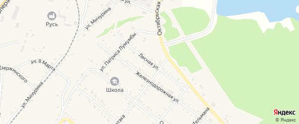 Лесная улица на карте Нязепетровска с номерами домов