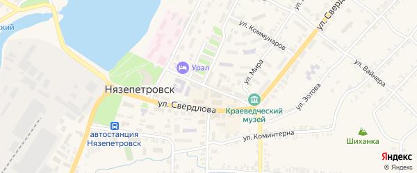 Улица Щербакова на карте Нязепетровска с номерами домов
