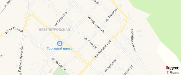 Улица Тельмана на карте Нязепетровска с номерами домов
