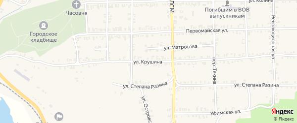 Улица Крушина на карте Нязепетровска с номерами домов