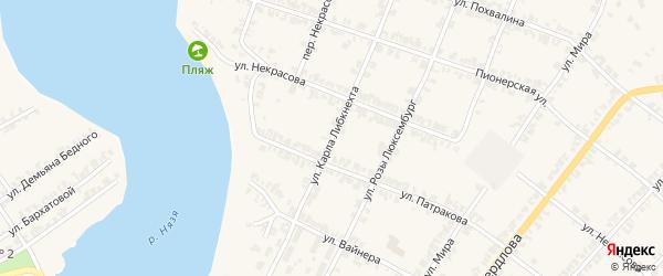 Улица Карла Либкнехта на карте Нязепетровска с номерами домов