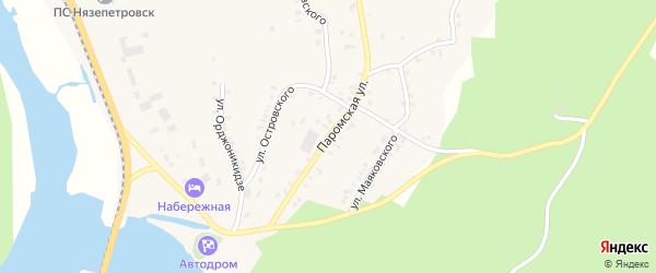 Паромская улица на карте Нязепетровска с номерами домов