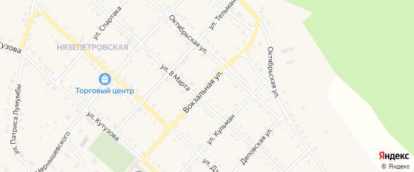 Вокзальная улица на карте Нязепетровска с номерами домов