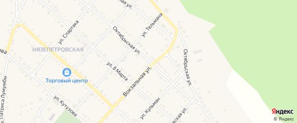 Октябрьская улица на карте Нязепетровска с номерами домов