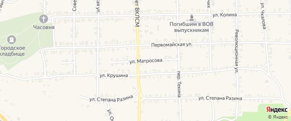 Улица Матросова на карте Нязепетровска с номерами домов