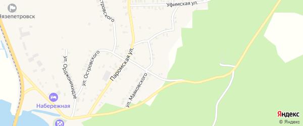 Улица Маяковского на карте Нязепетровска с номерами домов