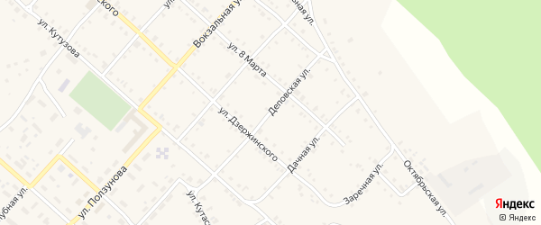 Деповская улица на карте Нязепетровска с номерами домов