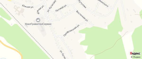 Профсоюзная улица на карте Нязепетровска с номерами домов