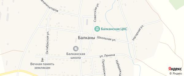 Луговая улица на карте поселка Балкан с номерами домов