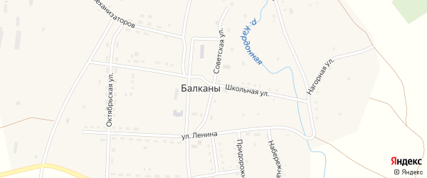 Улица Ленина на карте поселка Балкан с номерами домов