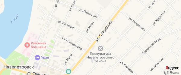Улица Вайнера на карте Нязепетровска с номерами домов