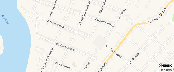 Улица Некрасова на карте Нязепетровска с номерами домов