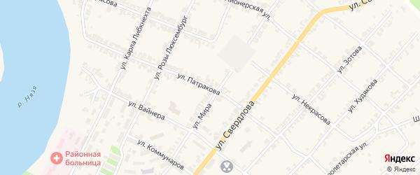 Улица Патракова на карте Нязепетровска с номерами домов