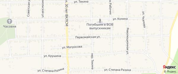 Первомайская улица на карте Нязепетровска с номерами домов