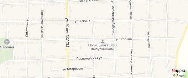 Улица Колина на карте Нязепетровска с номерами домов