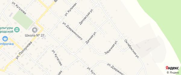 Дачная улица на карте Нязепетровска с номерами домов