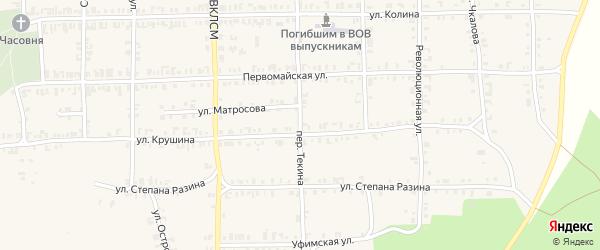 Переулок Текина на карте Нязепетровска с номерами домов