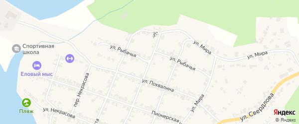 Рыбачья улица на карте Нязепетровска с номерами домов