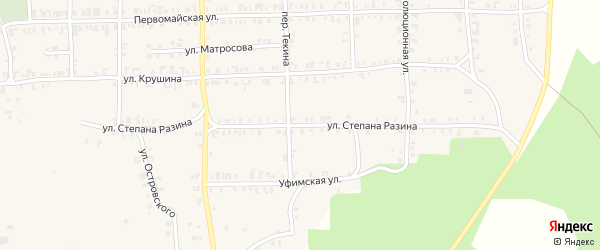 Улица Степана Разина на карте Нязепетровска с номерами домов