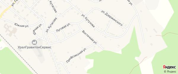 Восточная улица на карте Нязепетровска с номерами домов